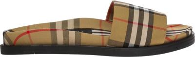 Burberry Beige Check Ashmore Slide