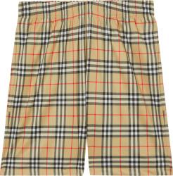 Beige Check 'Debson' Shorts