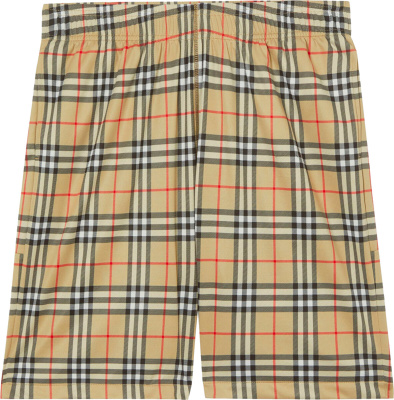 Burberry Beige Check Shorts