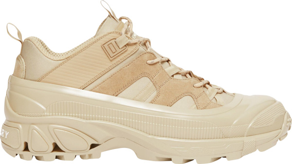 Burberry Beige Honey Suede Leather Arthur Sneakers