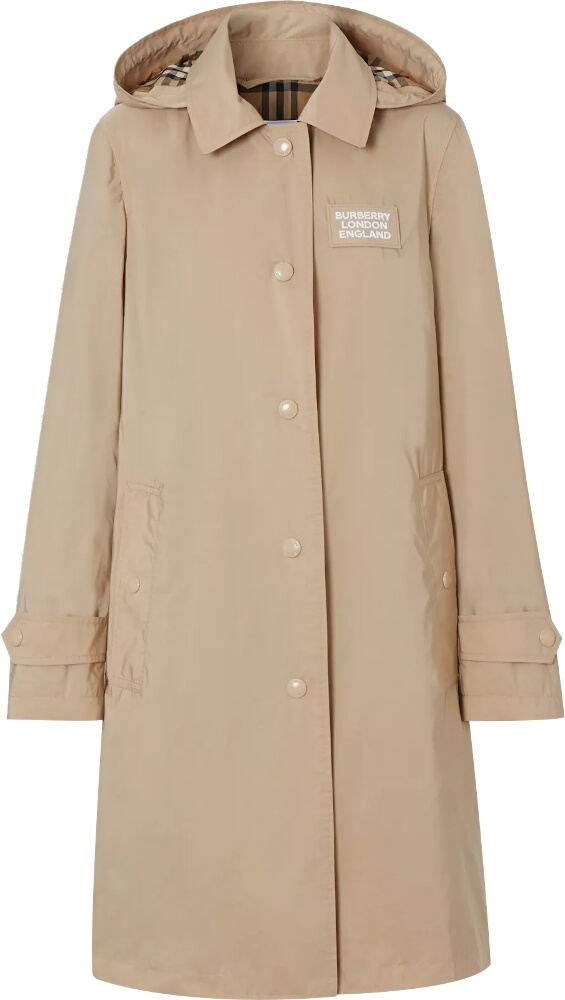 Burberry Beige Taffetta Car Coat