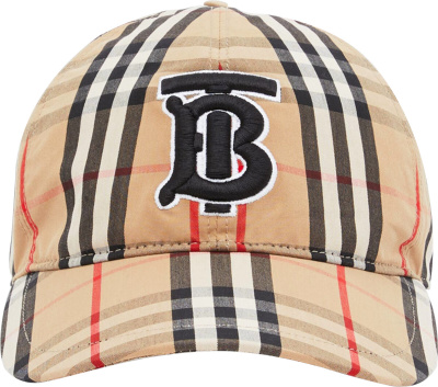 Burberry Beige Tb Check Cap