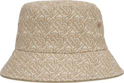 Burberry Beige Tb Monogram Embroidered Bucket Hat