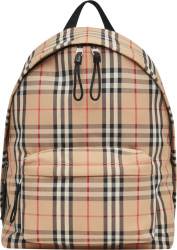 Burberry Beige Vintage Check Backpack