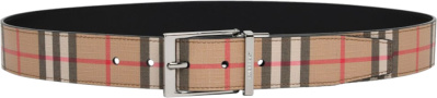 Burberry Beige Vintage Check Belt
