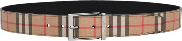 Burberry Beige Vintage Check Belt
