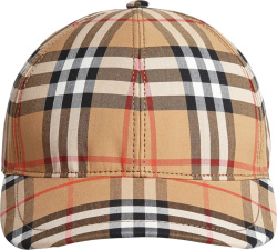 Burberry Beige Vintage Check Hat