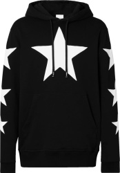 Burberry Black Allover Star Hoodie