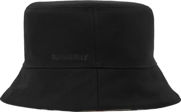 Burberry Black Logo Reverisble Bucker Hat