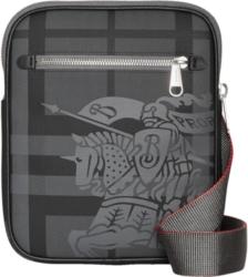 Burberry Black London Check Crossbody Bag