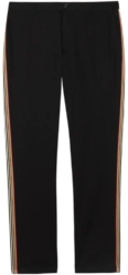 Burberry Black Pants With Side Stripe Worn By Gunna