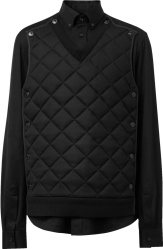 Burberry Black Quilted Panel Shirt