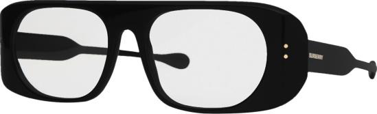 Burberry Black Wide Logo Glasses