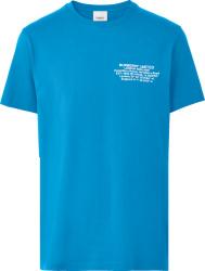 Burberry Blue Limited Logo Print T Shirt