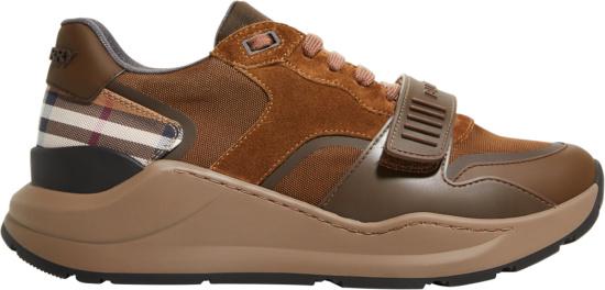 Burberry Brown Suede Ramsey Sneakers