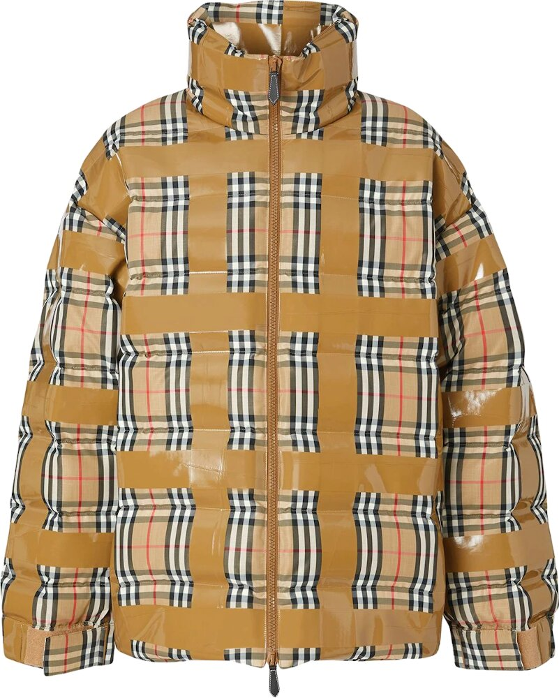 Burberry Check Puffer Coat