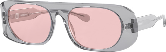 Burberry Clear And Pink Black Glasses