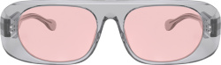 Burberry Clear Frame Rounded Rectangle Glasses
