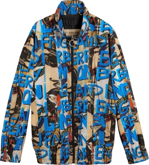 Burberry Graffiti Print Zip Jacket