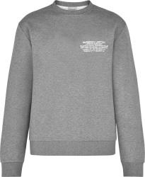 Burberry Grey Location Print Crewneck Sweatshirt