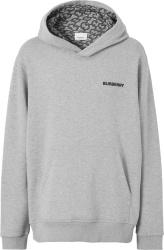 Burberry Grey Monogram Lined Hoodie