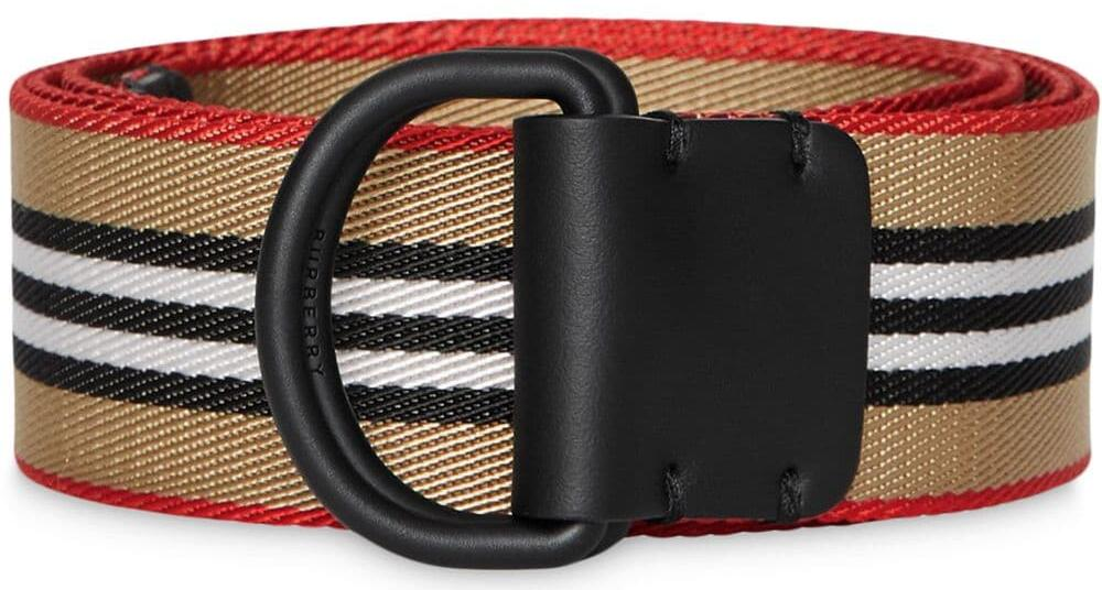 Burberry Icon Stripe D Ring Belt