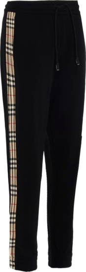 Burberry Joggers Check Side Stripe