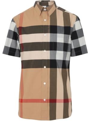 Burberry Large Check Stretch Cotton Shirt