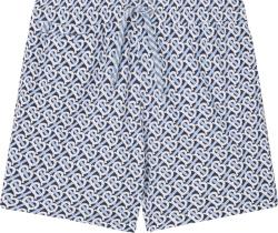 Burberry Light Blue And Navy Tb Monogram Shorts
