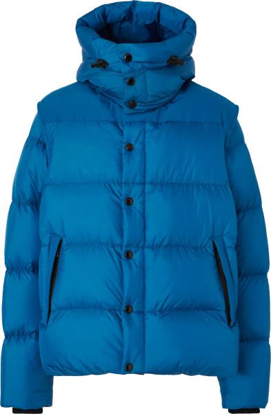 Burberry Light Blue Removable Sleeve Puffer Jacket