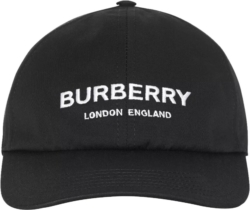 Burberry Logo Embroidered Black Hat