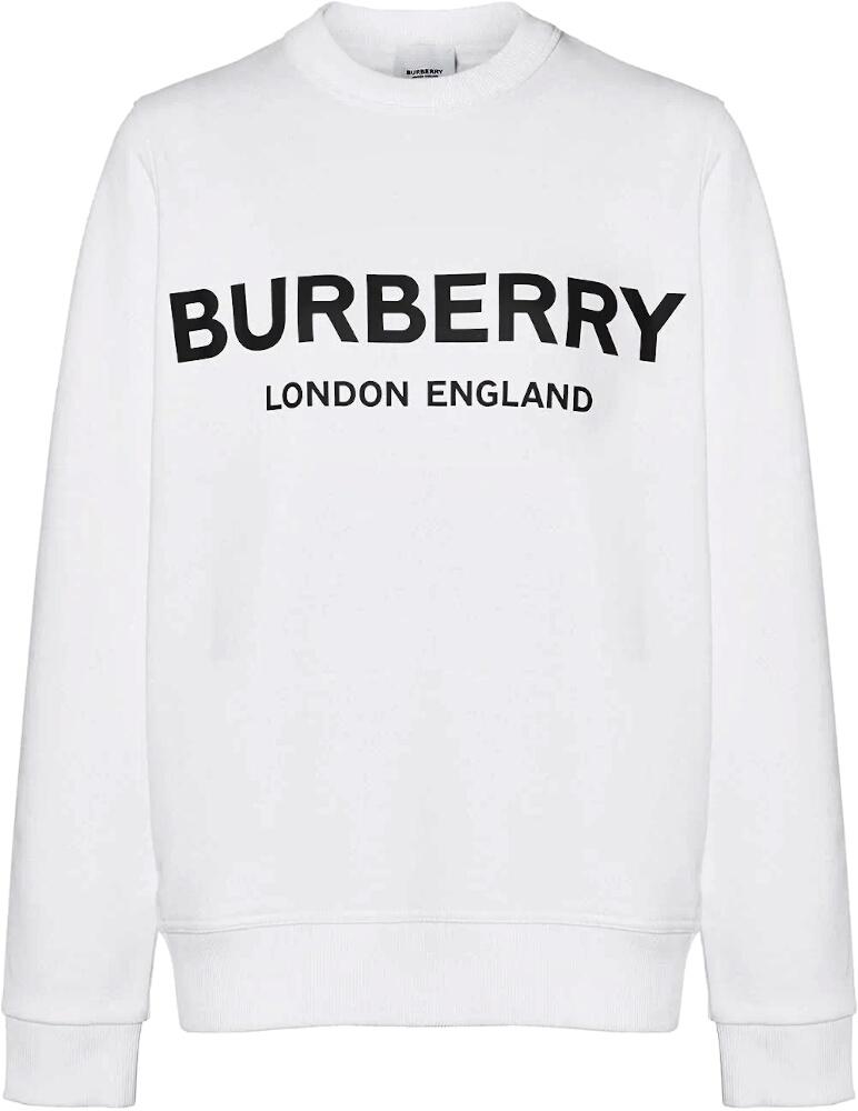 Burberry Logo Print White Sweatshirt