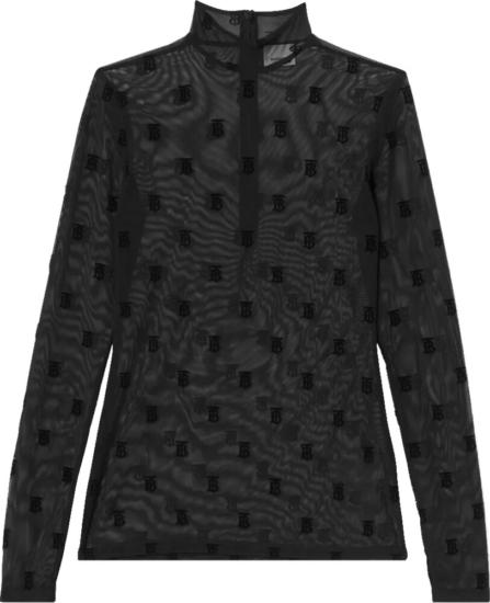 Burberry Monogram Mesh Black Shirt