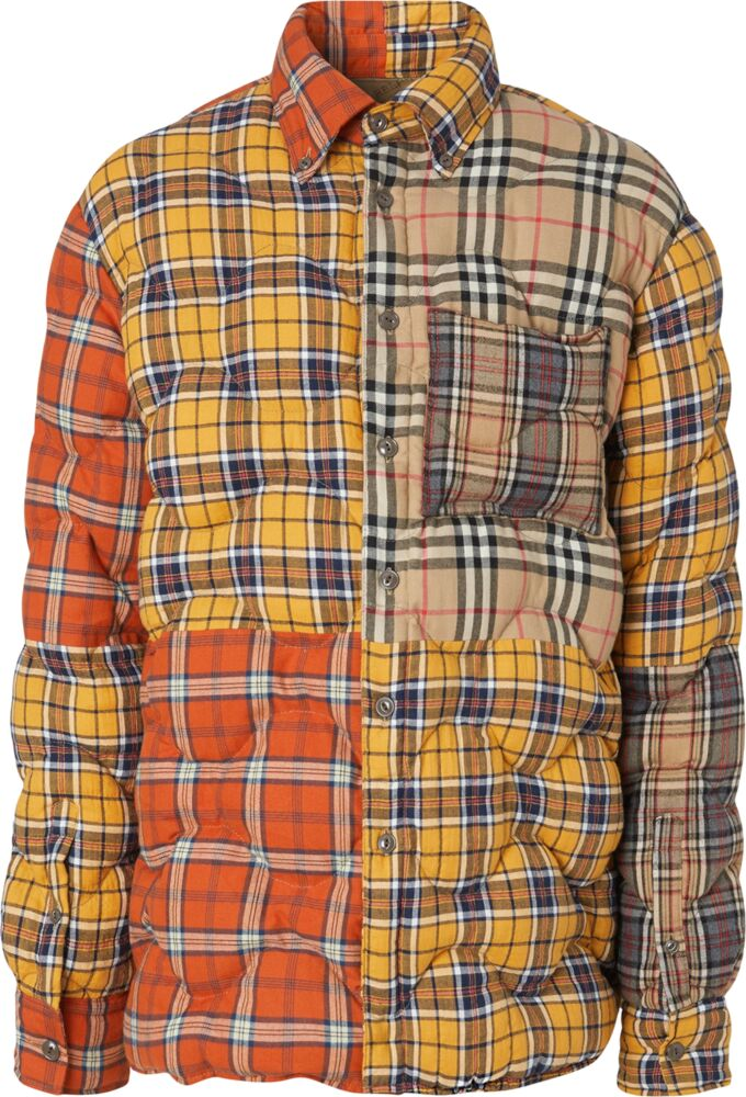 Burberry Patchwork Check Quilted Over Shirt