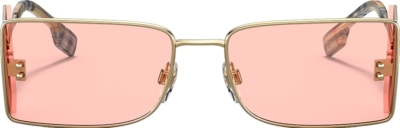Burberry Pink And Gold Sunglasses