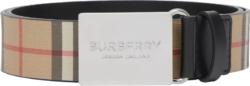 Burberry Plaque Buckle Vintage Check Belt