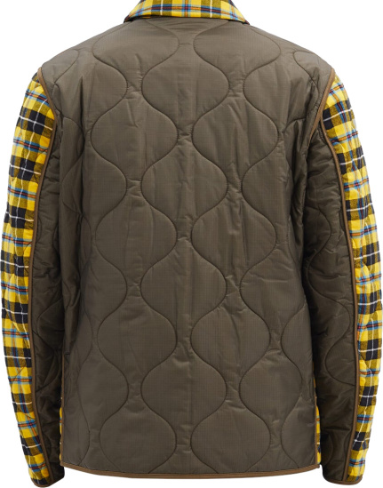 Burberry Quilted Yellow Check Overshirt