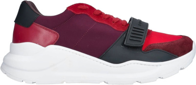 Burberry Red Burgundy Strap Sneakers