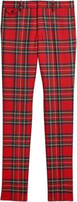 Burberry Red Tartan Pants