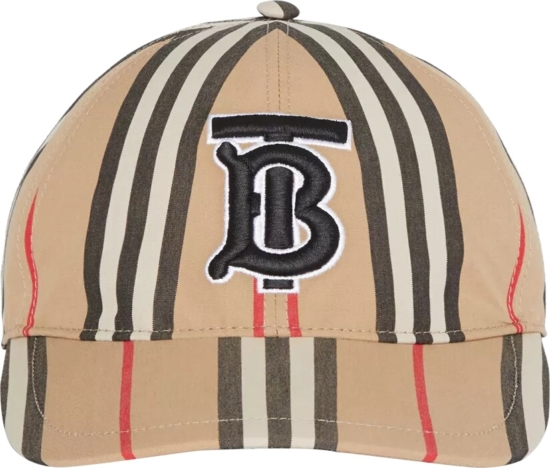 Burberry Tb Logo Patch Check Hat