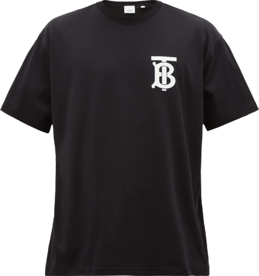 Burberry Tb Logo Print Black Shirt