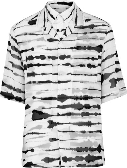 Burberry White And Black Layered Watercolor Shirt