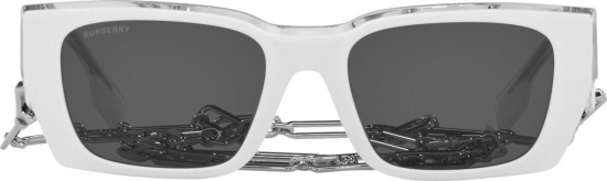 Burberry White Poppy Sunglasses