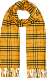 Burberry Yellow Vintage Check Scarf