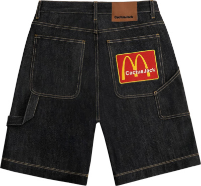 Cactus Jack X Mcd Arches Patch Jeans Shorts