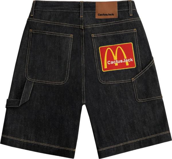Cactus Jack X Mcd Arches Patch Jeans Shorts