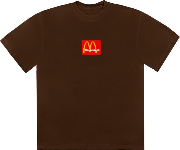 Cactus Jack X Mcdonals Brown T Shirt