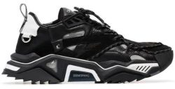Calvin Klein Black Sneakers With Wrap Around Drawcord Laces Worn By 2 Chainz