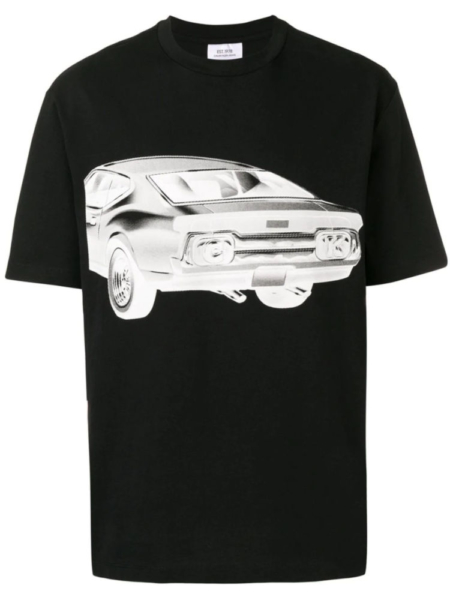 Calvin Klein Est 1978 Black T Shirt With White Car Print Worn By Pusha T