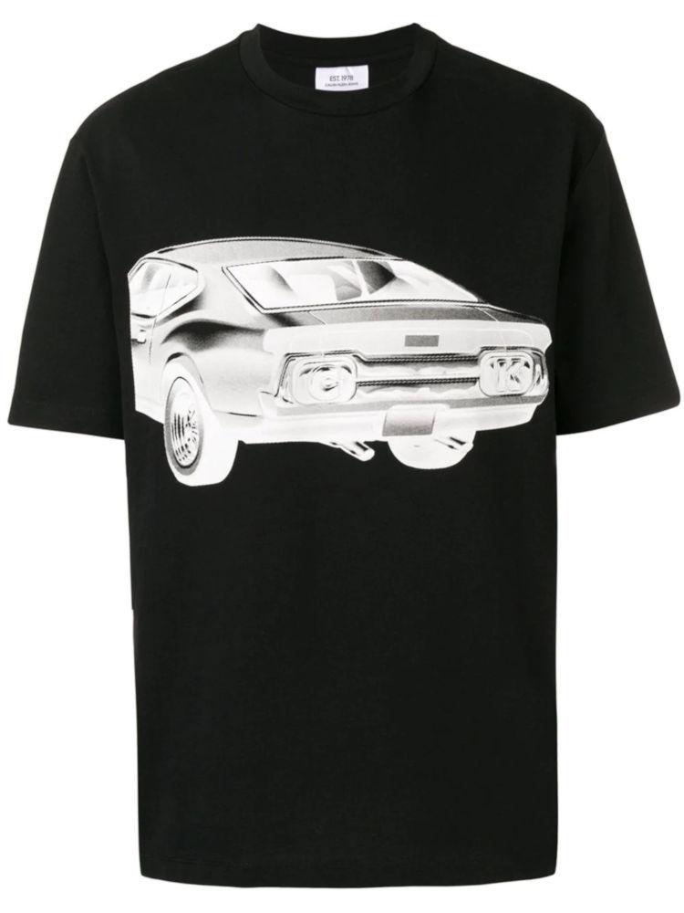 Calvin Klein Est 1978 Black T Shirt With White Car Print Worn By Pusha T
